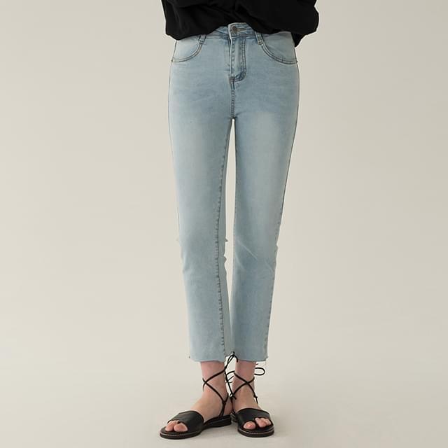 9-length casual denim pants
