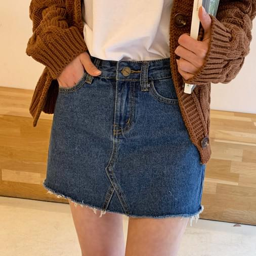 Megan denim pants skirt