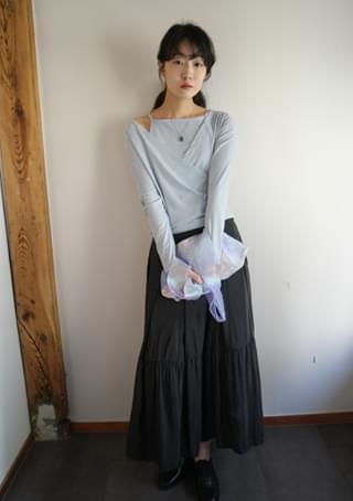 romantic glossy long skirt