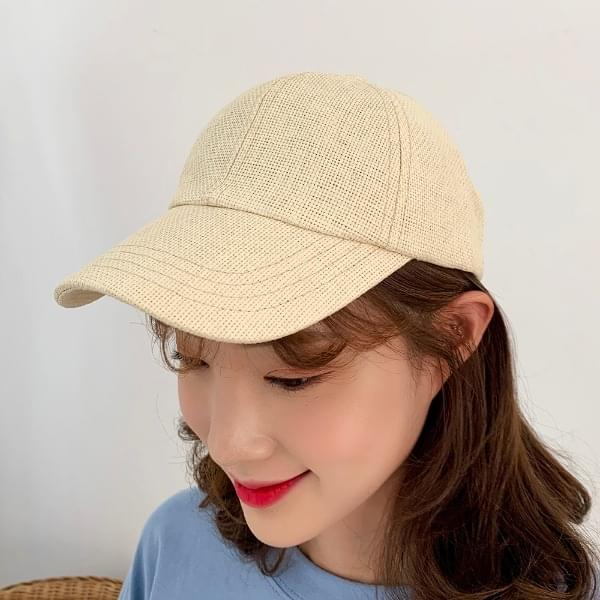 Linen daily ball cap