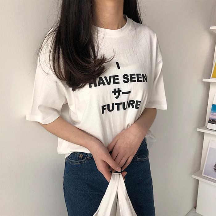English Lettering Short Sleeve Polo Shirt