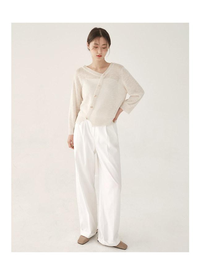 diagonal knit cardigan