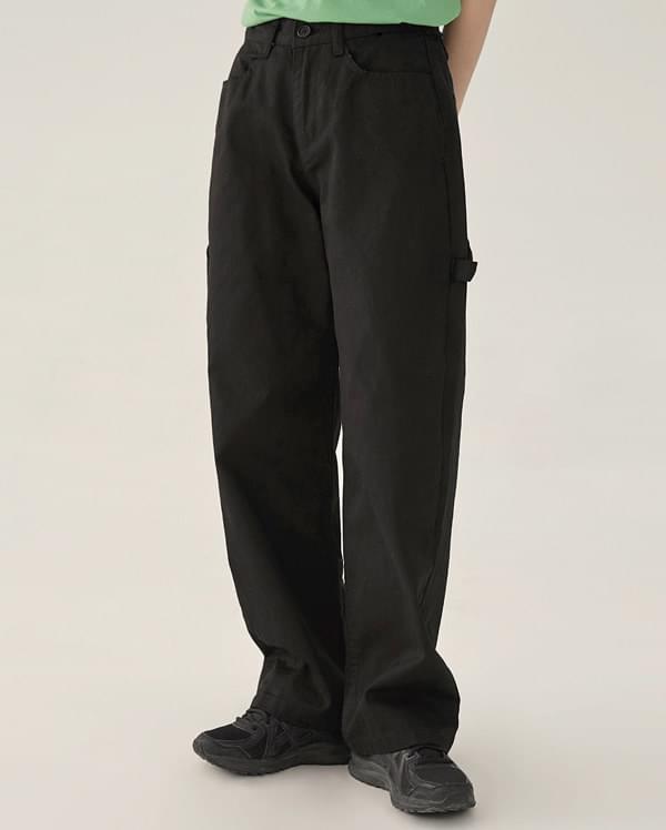 kid detail cotton pants