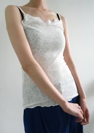 natural lace sleeveless