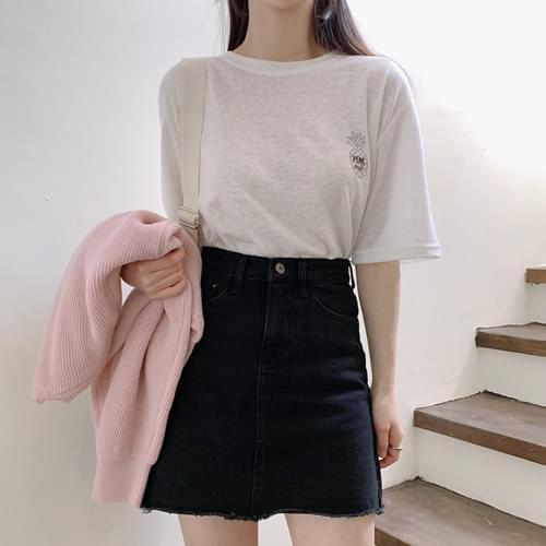 Pineapple Linen Short Sleeve Polo Shirt