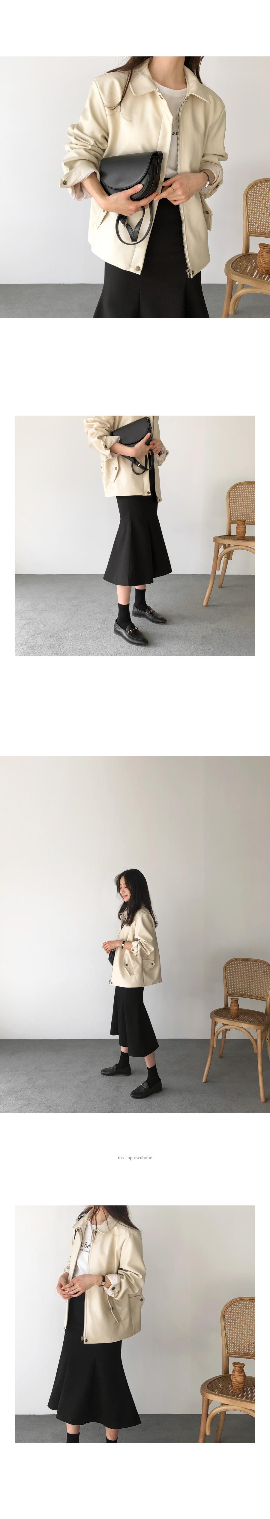 Leather Jackets jk Ivory