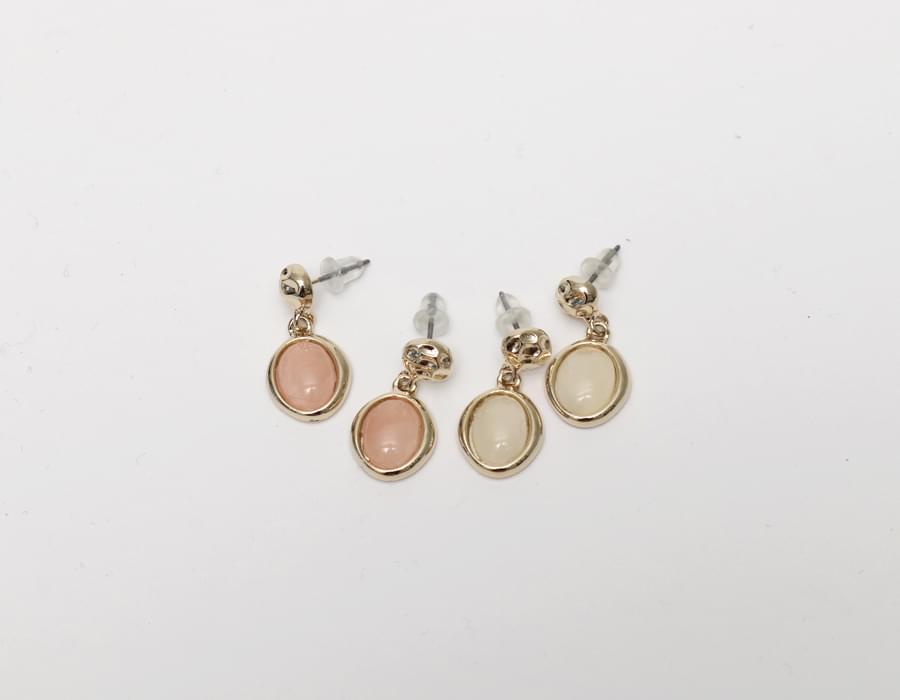 Water drop simple earring_J