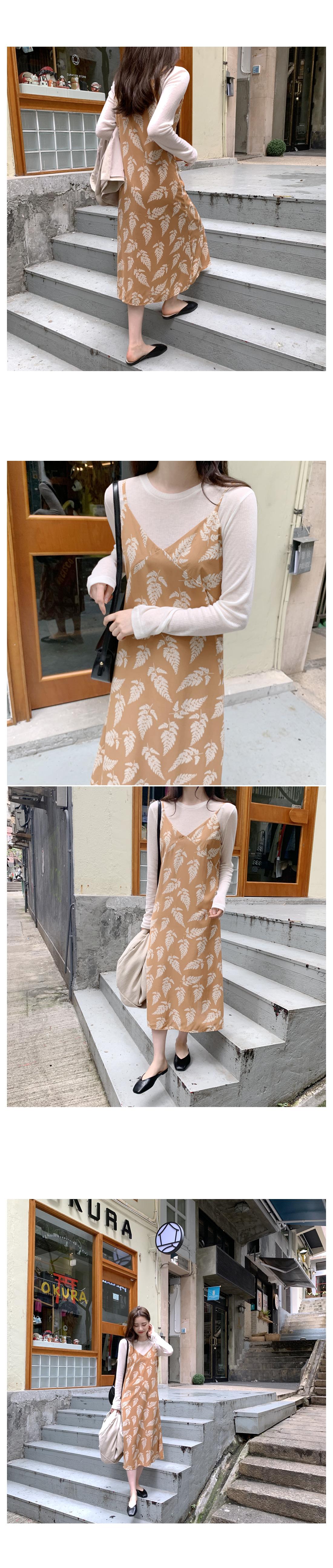 Leaf Nashi Long Dress