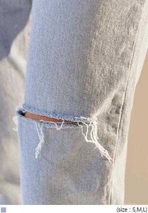 CLOW DAMAGE DENIM PANTS