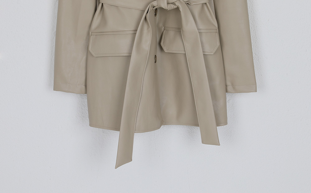 knock pocket standard leather jacekt