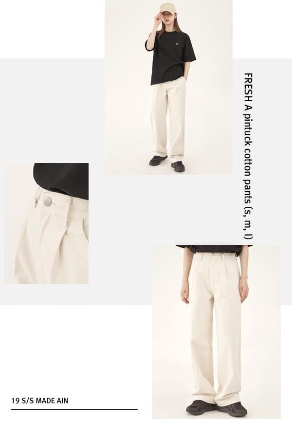 FRESH A pintuck cotton pants