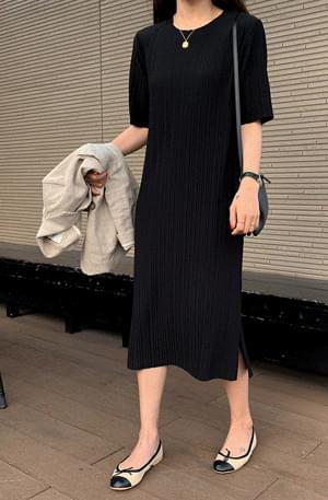 PBP. Vertical Embossed Black Dress