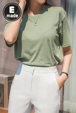 Linen basic t-shirt