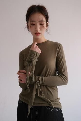 tencel detail texture tee (5colors)