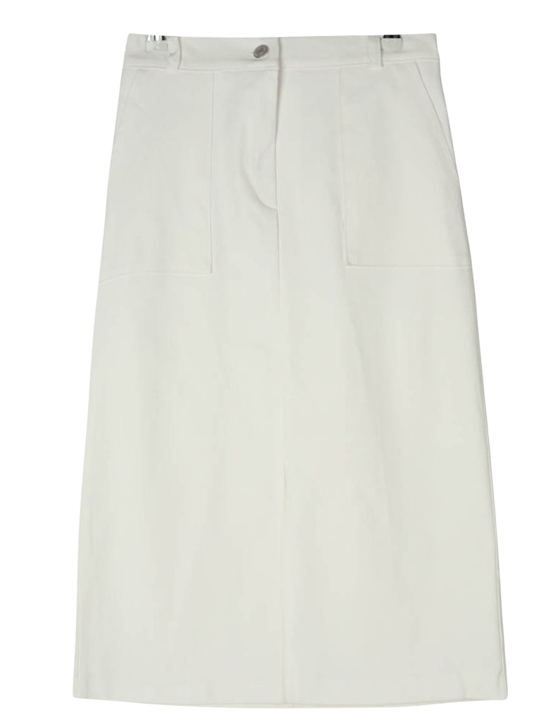 Square Pocket Long Skirt