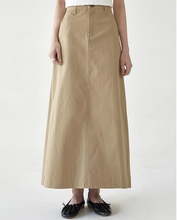 maison cotton long skirt