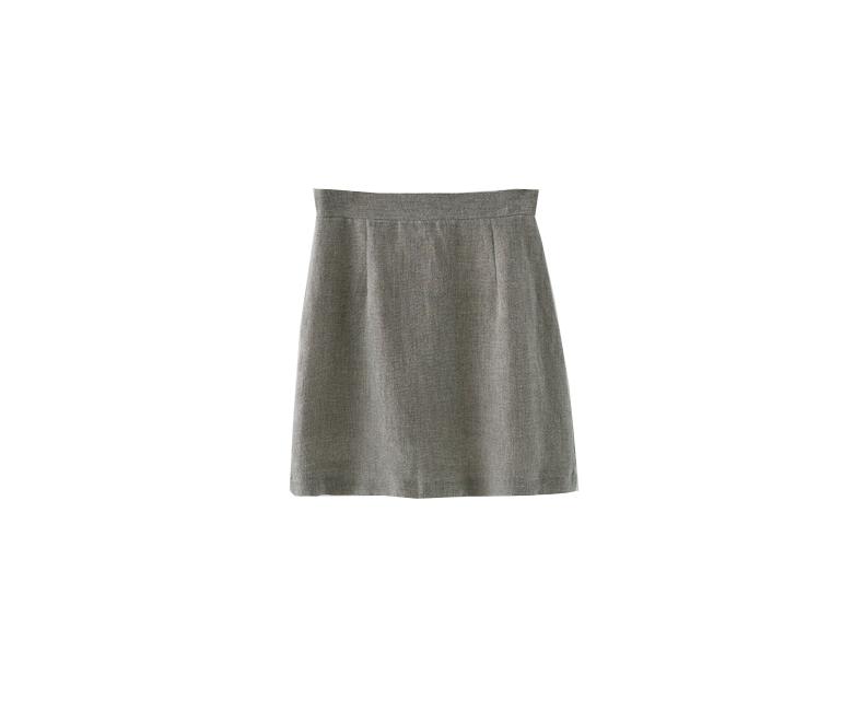 matt linen mini skirt