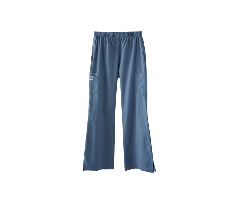 add patch straight fit pants