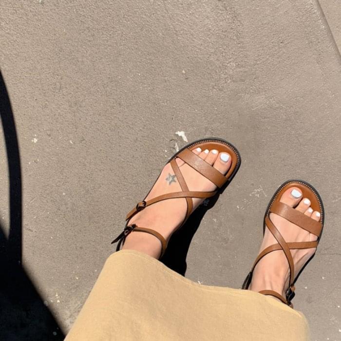 etoile-X strap sandals