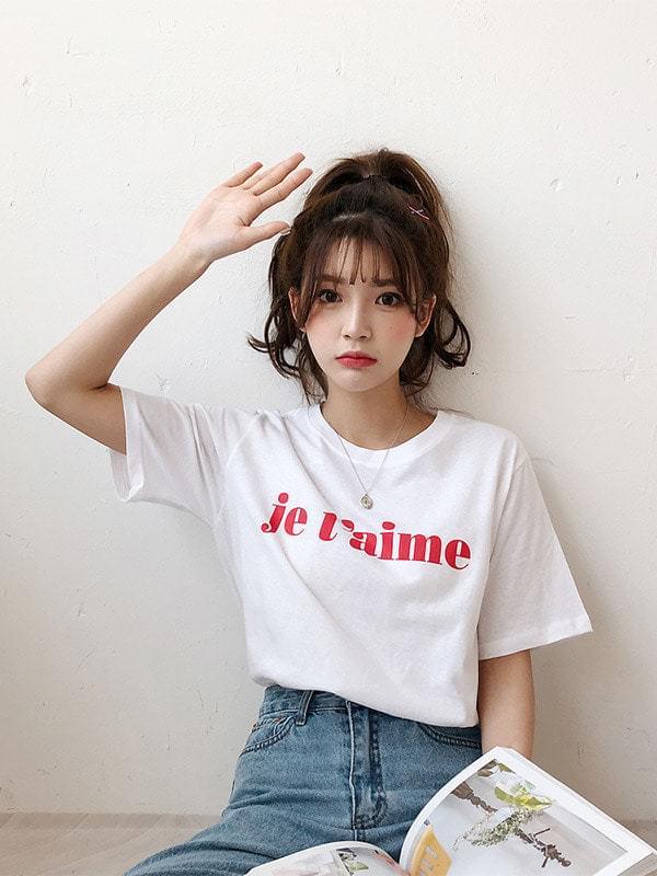 쥬뗌므 라운드 반팔 티셔츠 (t6261)