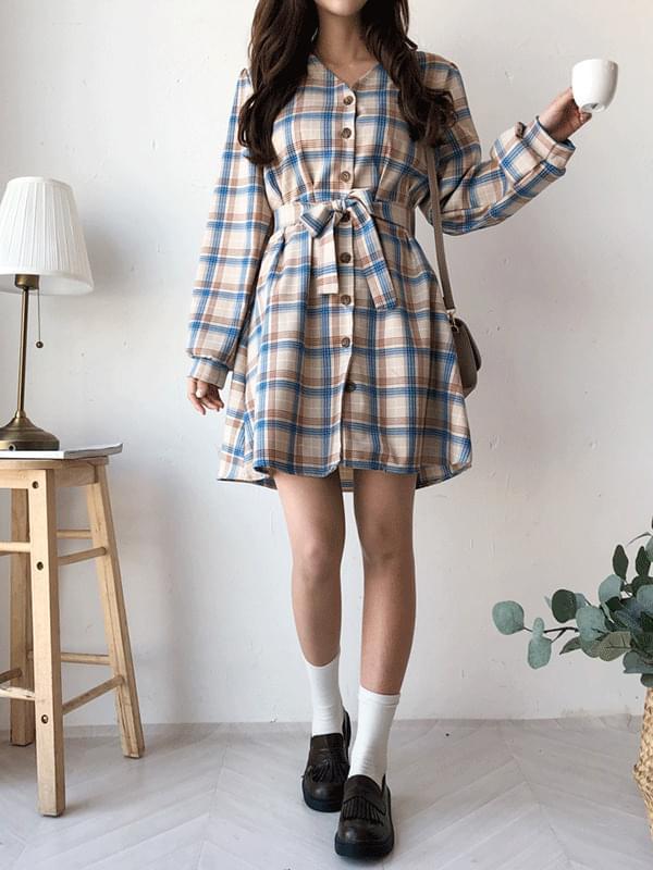Ari spring check dress