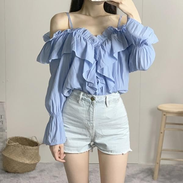 Paris string off shoulder blouse