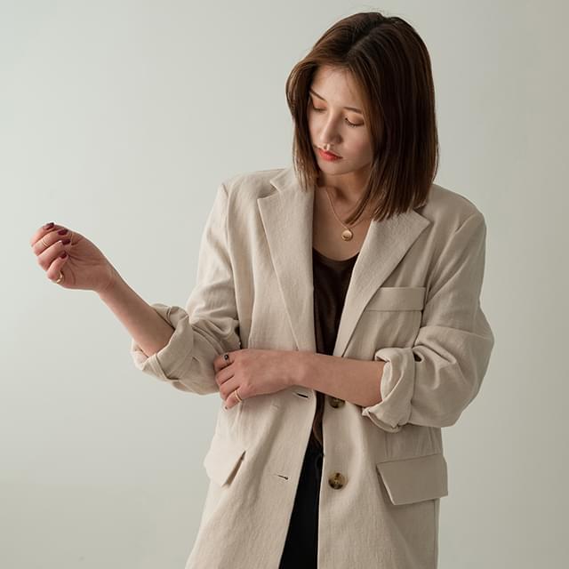 Daily Boxy Fit Linen Jacket