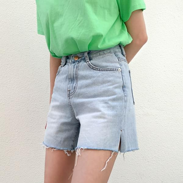 Half-length denim pants