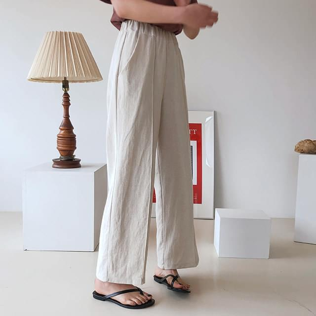 Wide-linen linen pants