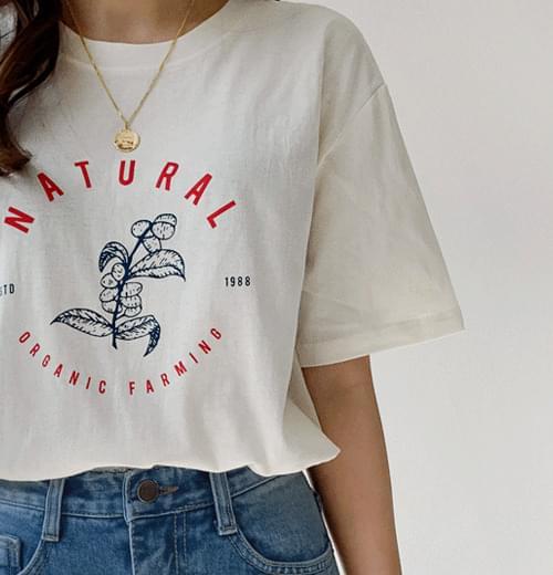 네츄럴라운드티셔츠