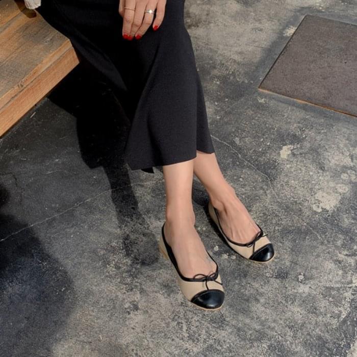 Marmalade ♥. Combi Canvas Flat Shoes