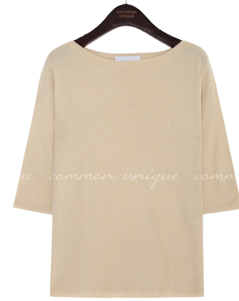 BONIS BOAT NECK 1/2 KNIT - 2 TYPE