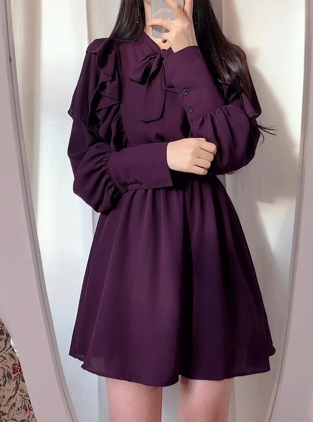 Perfume frilly ribbon dress