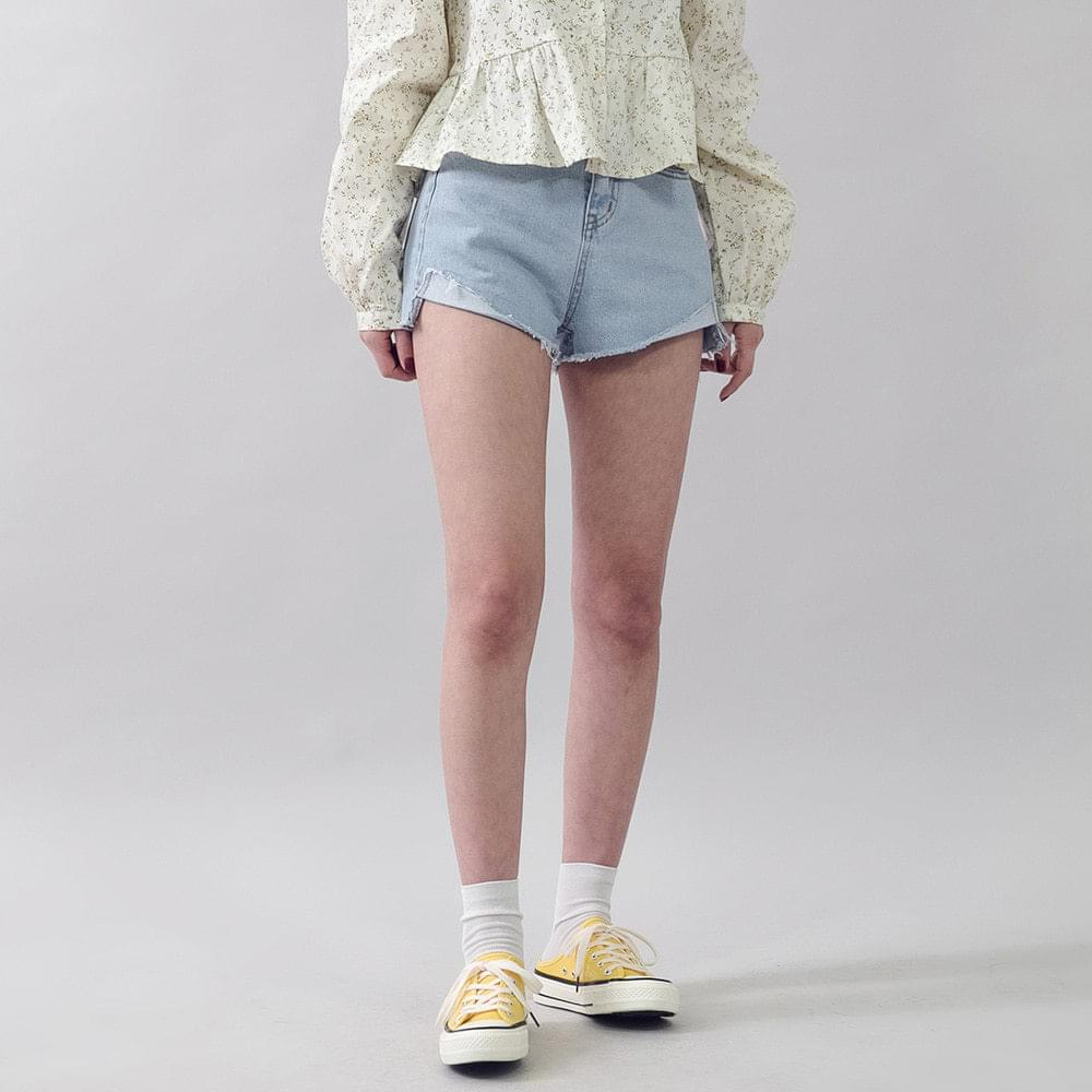 Damage Denim Shorts
