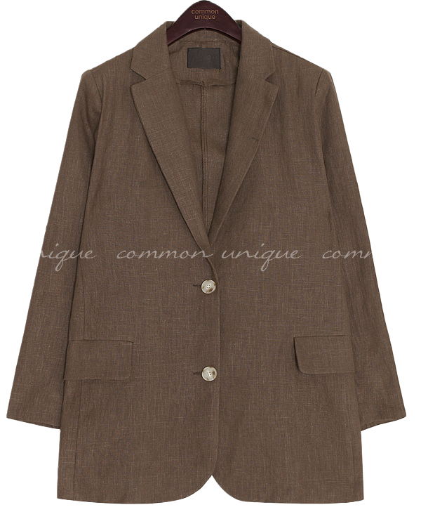 VERON LINEN SINGLE JACKET