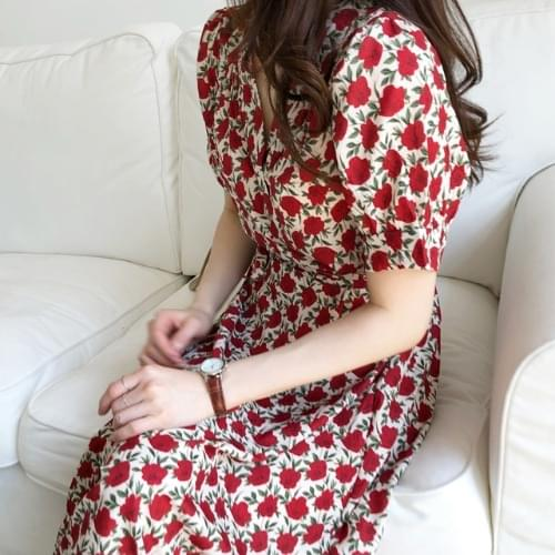 Rose lapel dress dresses