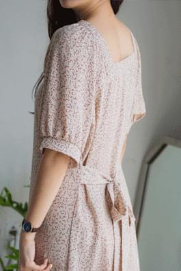 韓國空運 - Square twig dress 及膝洋裝