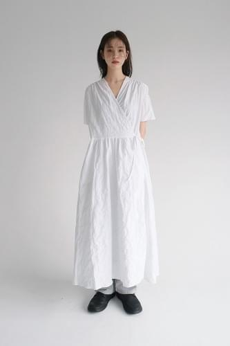 ops v-neck lap dress