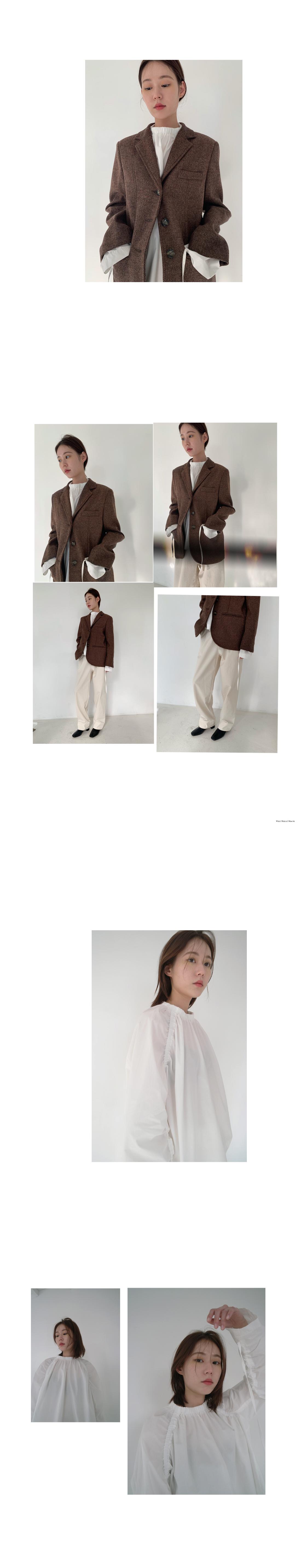 sleeve shirring detail blouse