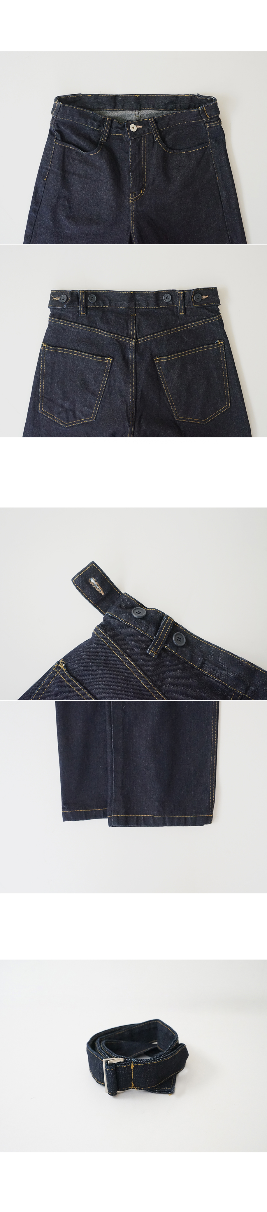 belt point salvage denim pant