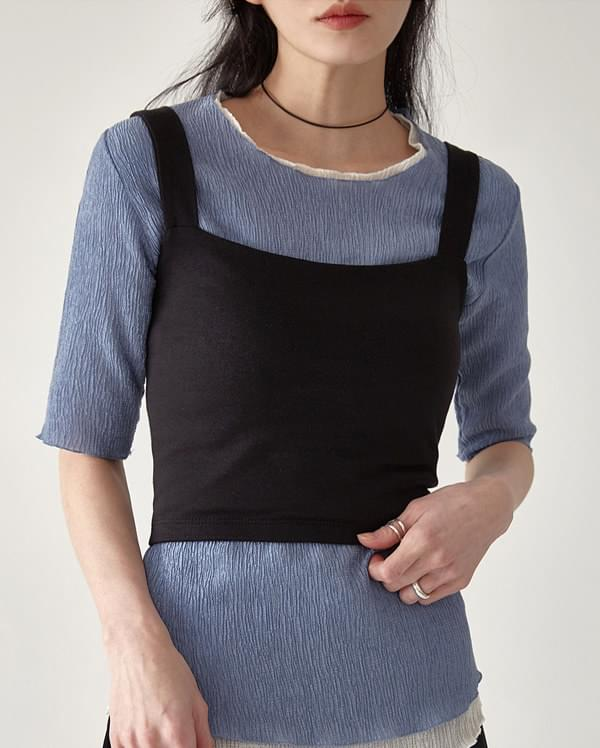 minimal crop top sleeveless タンクトップ