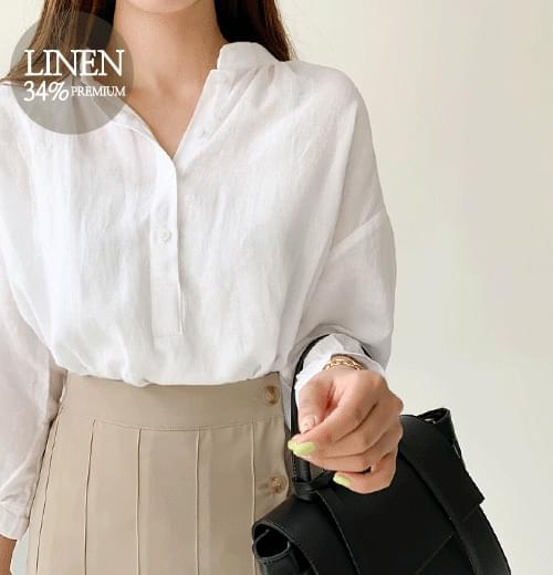 El linen blouse