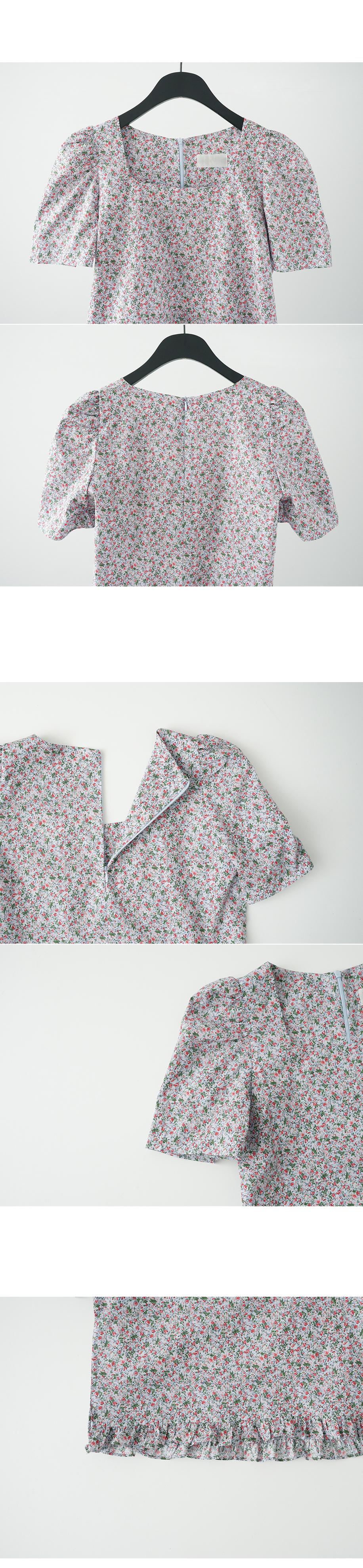 flower frill detail blouse