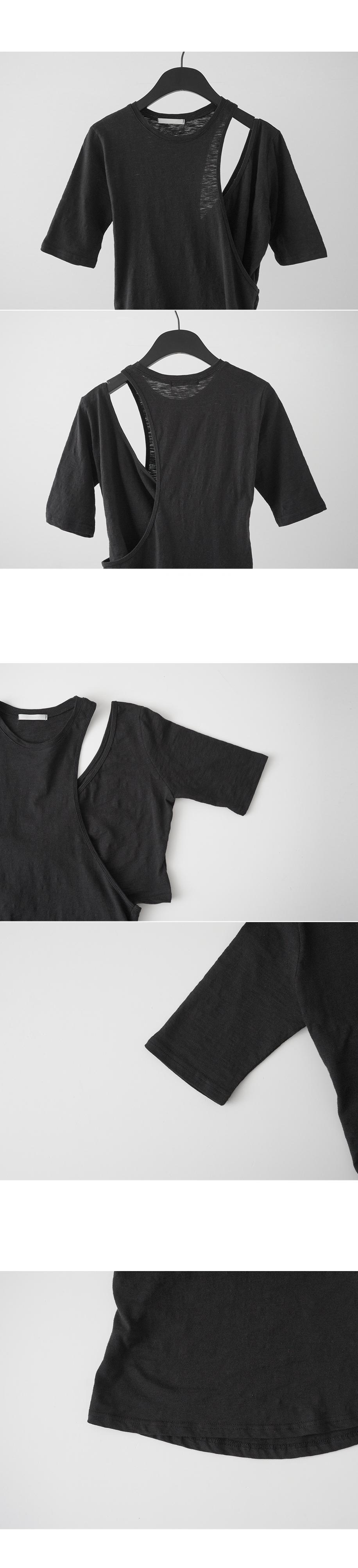 sensual shape half sleeve top