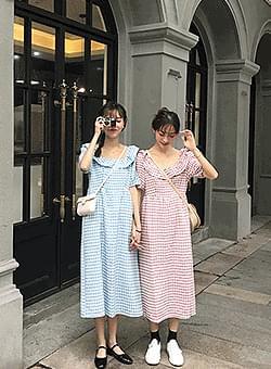 Twin Check Long Dress