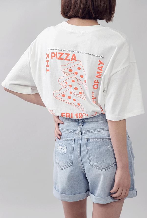 Pizza graphic box t-shirt