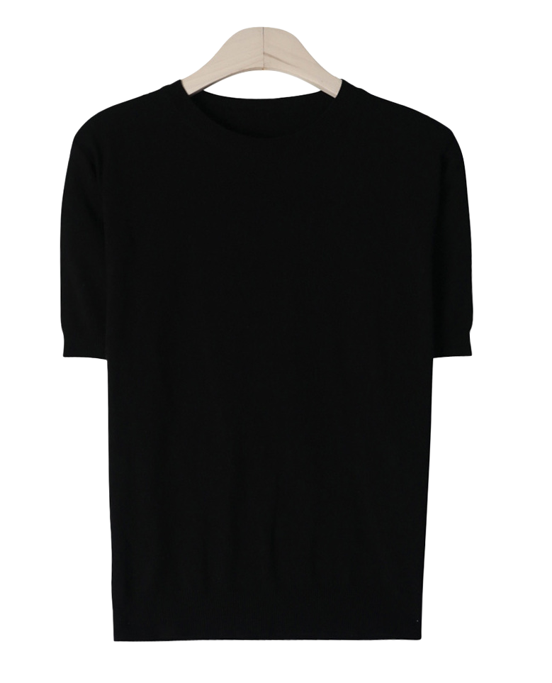 Pure knit short sleeve polo shirt