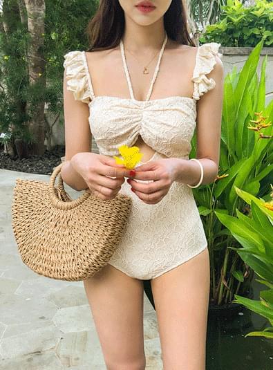 Holter ruffle bikini