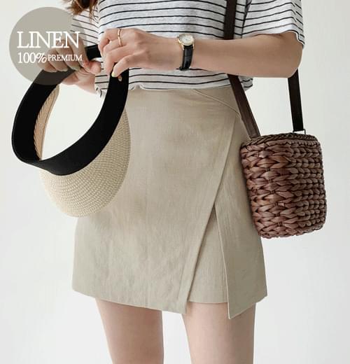 Spring linen skirt