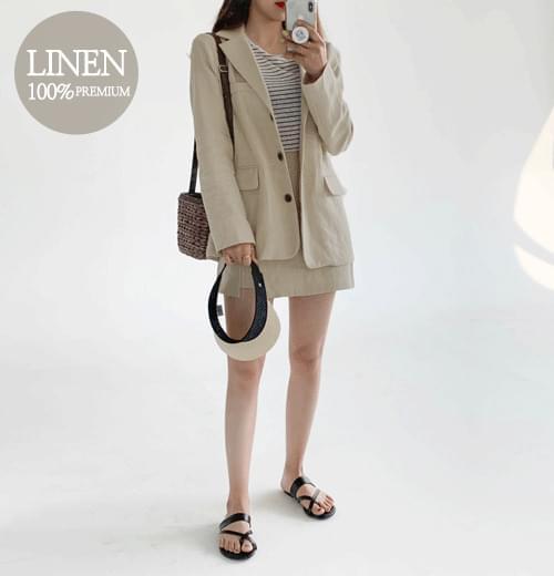 Spring linen jacket